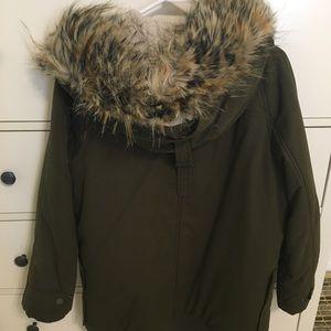 ZARA dark green coat. MEDIUM. Barely worn!